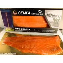 Филе лосося слабосоленое в вакуумной упаковке
